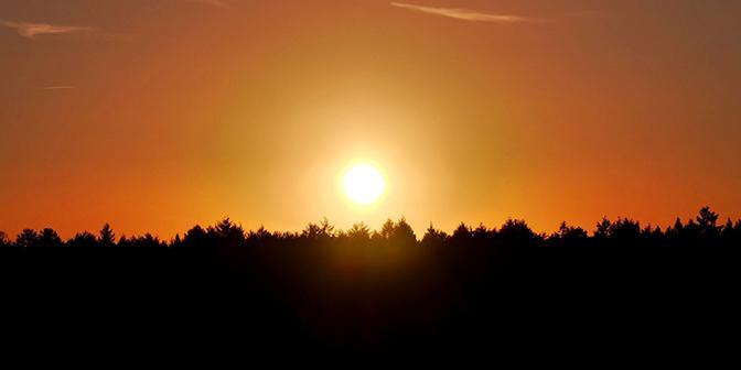 zonsondergang uruguay