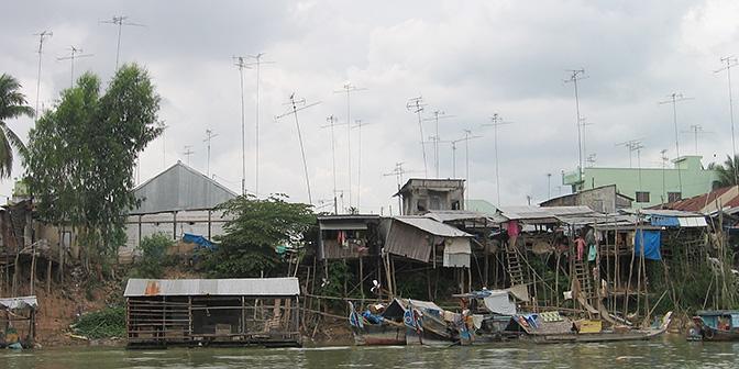 huizen palen mekong