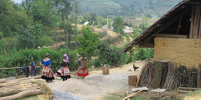 trekking dorpen bergvolkeren