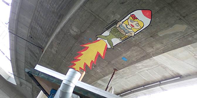 street art zurich raket
