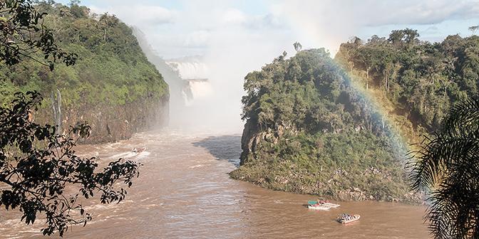 regenboog iguaza argentinie