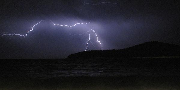 onweer in Dubrovnik